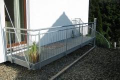 Balkon aus Stahl, feuerverzinkt