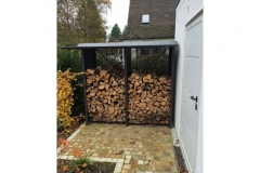 Holzlegeeinhausung aus beschichtetem Stahlblech