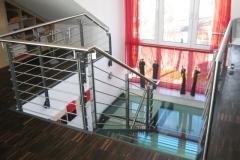 Treppe mit Glasstufen